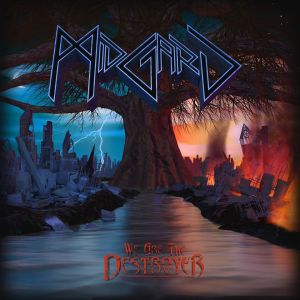 "Album cover for Midgard's ""We are the Destroyer"", artwork and logo design by Travis Boylls"